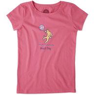 Life is Good Girls' Beach Day Crusher Short-Sleeve T-Shirt