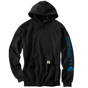 Carhartt Men's Big & Tall Midweight Hooded Logo-Sleeve Sweatshirt