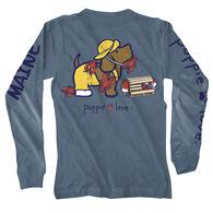 Puppie Love Women's Lobster Pup Maine Long-Sleeve T-Shirt