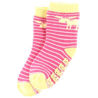Lazy One Infant Girl's Stripe Moose Sock