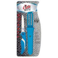 """Cuda 3"""" Titanium Bonded Net Knife w/ Sheath"""
