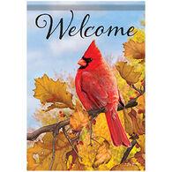 Carson Home Accents Fall Cardinal Garden Flag