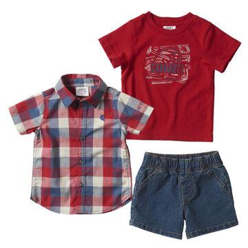Carhartt Toddler Boys Denim Short Set, 3-Piece
