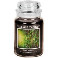 Village Candle Large Glass Jar Candle - Black Bamboo