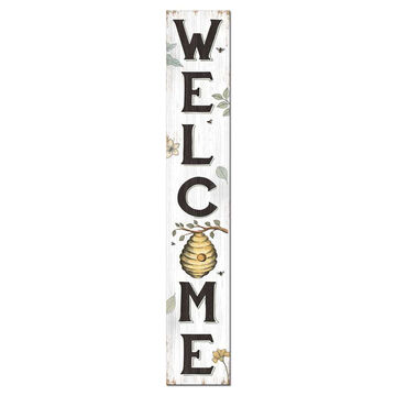 My Word! Welcome - Spring Bee Porch Board