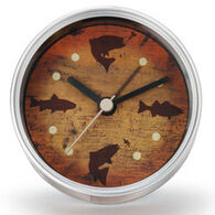 Big Sky Carvers Fish Clock-n-Can