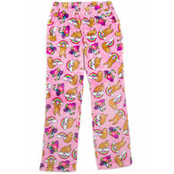 Candy Pink Girl's Sloth Pajama Pant
