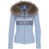 Bogner Women's Naomi Zip Cardigan Sweater with Fur