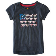 Carhartt Toddler Girls' Horse Flower Short-Sleeve T-Shirt