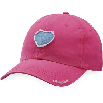 Life is Good Womens Heart Tattered Chill Cap