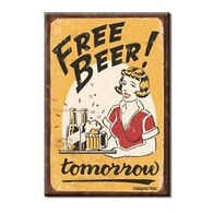 Desperate Enterprises Free Beer Tomorrow Ice Box Magnet