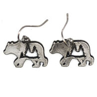Anju Jewelry Women's Big Bear and The Forest Earring