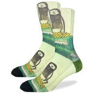 Good Luck Sock Men's Surfing Sloth Crew Sock