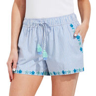 Vineyard Vines Women's Pop Embroidered Pull-On Short