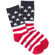 K. Bell Women's American Flag Crew Sock