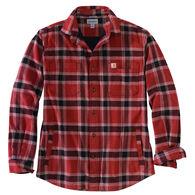 Carhartt Men's Rugged Flex Fleece-Lined Plaid Flannel Long-Sleeve Shirt
