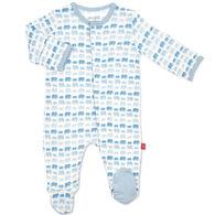 Magnetic Me Infant Blue Dancing Elephants Modal Magnetic Footie Pajama