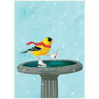 Allport Editions Goldfinch Skates Boxed Holiday Cards