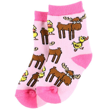 Lazy One Infant Girls Duck Duck Moose Sock