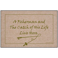 High Cotton Door Mat - Catch Of His Life