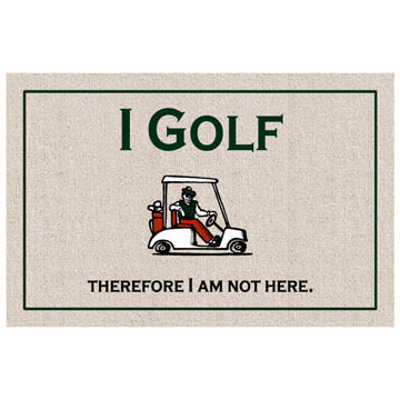 High Cotton Doormat - I Golf
