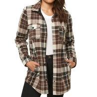 O'Neill Women's Coldcoast Superfleece Flannel Long-Sleeve Top
