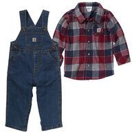 Carhartt Infant Boy's Flannel Overall 2-Piece Set