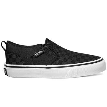 Vans Boys Asher Checker Slip-On Shoe