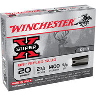 """Winchester Super-X 20 GA 2-3/4"""" 5/8 oz. BRI Sabot Slug Ammo (5)"""
