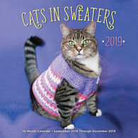 Cats in Sweaters 2019 Wall Calendar by Editors of Rock Point