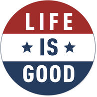 "Life is Good Flag 4"" Circle Sticker"