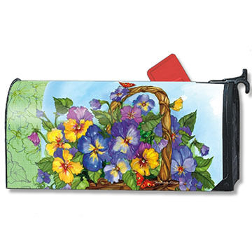 MailWraps Pansy Basket Magnetic Mailbox Cover