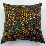 "Moosehead Balsam Fir 5"" x 5"" Pine Cone Black Pillow"