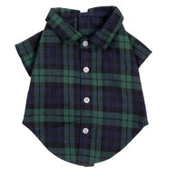 The Worthy Dog Black Watch Plaid Dog Shirt