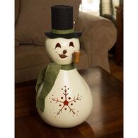 Meadowbrooke Gourds Meadowbrooke Large Lit Snowman Gourd