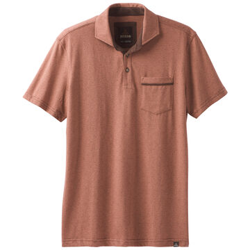 prAna Mens Ryann Polo Short-Sleeve Shirt