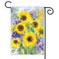 BreezeArt Sunflower Burst Garden Flag