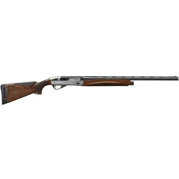 Benelli Ethos 12 GA Satin Walnut / Engraved Nickel-Plated 28 Semi-Automatic Shotgun