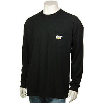 CAT Apparel Mens Trademark Pocket Long-Sleeve T-Shirt