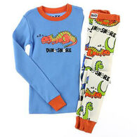 Lazy One Boys' Dino-Snore Pajama Set