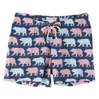Hatley Little Blue House Women's Cottage Bears Boxer
