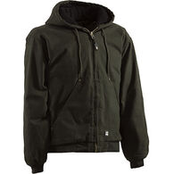 Berne Men's Original Washed Quilted Lined Hooded Jacket