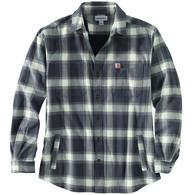 Carhartt Men's Big & Tall Rugged Flex Fleece-Lined Plaid Flannel Long-Sleeve Shirt