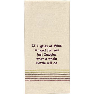 Park Designs If 1 Glass Of Wine Is Good Dish Towel