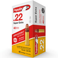 Aguila Super Extra 22 LR 40 Grain Copper-Plated Solid Point Ammo (50)