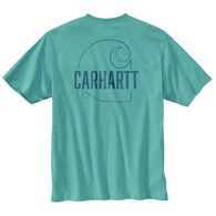 Carhartt Men's Big & Tall Loose Fit Heavyweight Carhartt C Graphic Short-Sleeve T-Shirt