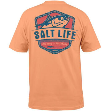 Salt Life Mens Tuna Fillet Pocket Short-Sleeve T-Shirt