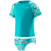 Speedo Girl's Printed 2-Piece Rashguard
