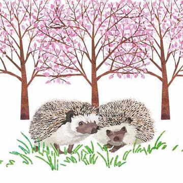 Paperproducts Design Hyde Park Hedgehogs Beverage Napkin