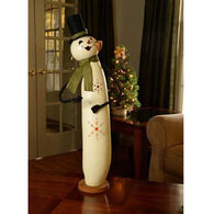 Meadowbrooke Gourds Large Tall Lit Meadowbrooke Snowman Gourd